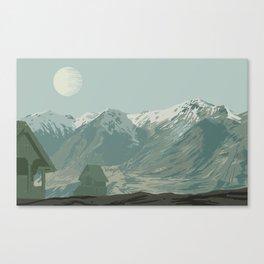 Montagnes Canvas Print