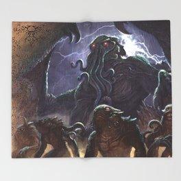GREAT ANCIENT CTHULHU Throw Blanket