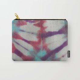 January White Petals Tie Dye Carry-All Pouch