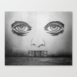 If this wall could talk Canvas Print