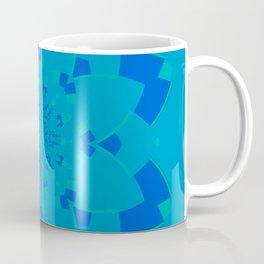 Blue Flower Kaleidoscope Coffee Mug
