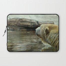 Polar Bear Stare (Color) Laptop Sleeve