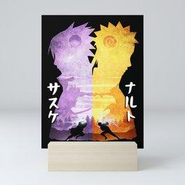 Minimalist Silhouette Rival Mini Art Print