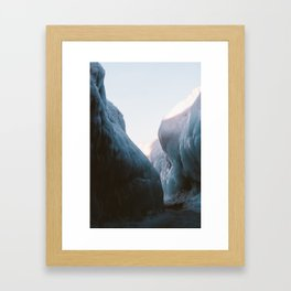 Frozen Lake Michigan Framed Art Print
