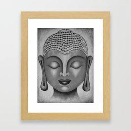 Grey Buddha 5 Framed Art Print