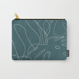 Monstera No2 Teal Carry-All Pouch