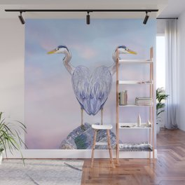 A heart for herons Wall Mural