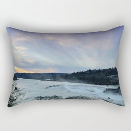A CHILLY WINTER WILLAMETTE FALLS SUNSET Rectangular Pillow