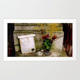 Les Yeux Grave  Art Print