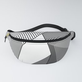 Abstract Geometric 3D Heart Fanny Pack