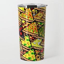 Pixel Pizza Array Travel Mug