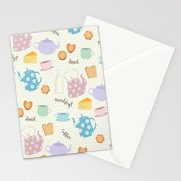 Breakfast Lunch Coffee Stationery Cards