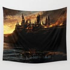 Harry Potter - Hogwart's Burning Wall Tapestry