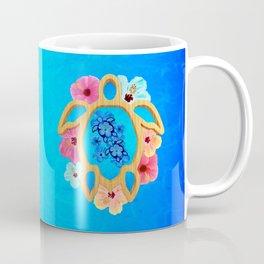 Hawaiian Blue Honu Sea Turtle Coffee Mug