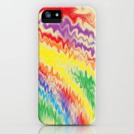 Raging Rainbow Fire Lines iPhone Case
