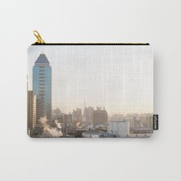 Peaceful Coffee Drinking Morning in Urban City Carry-All Pouch