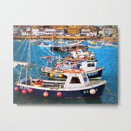 St Ives Harbour Metal Print