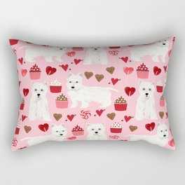 Westie west highland terrier dog breed valentines day cute dog person must have gifts pet portraits Rectangular Pillow