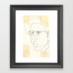 Line Glasses Framed Art Print