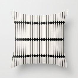 Minimal Geometric Pattern - Black Throw Pillow