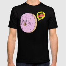 Donut Bother Me! SMALL Black Mens Fitted Tee