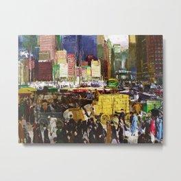 Bustling Big City New York landscape painting by George Wesley Bellows Metal Print