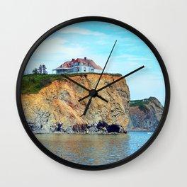 Cliffs of Perce Quebec Wall Clock