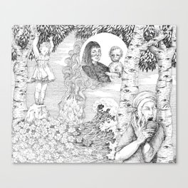 "untitled Xl "" Illustrations from a lost novel"" Canvas Print"