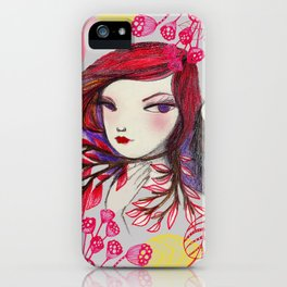 Red Owl Gal iPhone Case