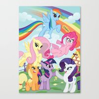 my little pony Canvas Prints featuring My Little pony by Paul Abstruse