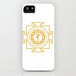 Sri Yantra Solar Chakra iPhone Case