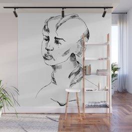 Crying Fish-Woman Wall Mural