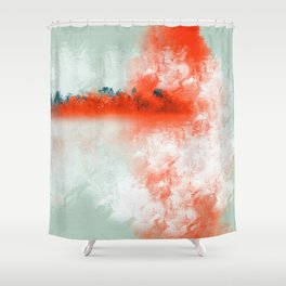 Frosted to Red Shower Curtain