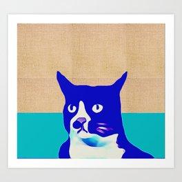 Canvas Blue Cat Art Print
