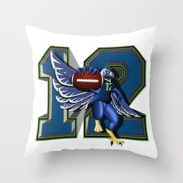 Seattle's 12th Man Throw Pillow