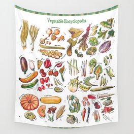 Vegetable Encyclopedia Wall Tapestry