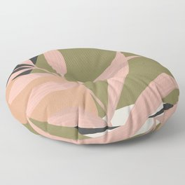 Tropical Leaf- Abstract Art 2 Floor Pillow