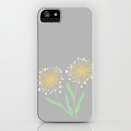 Simple Gray Dandelions || Make a Wish iPhone Case