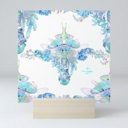 Aqua Chalcedony Mini Art Print