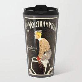 The Northampton Bicycle co. by Edward Penfield Travel Mug