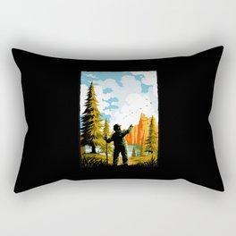 National Park Traditional Design Rectangular Pillow