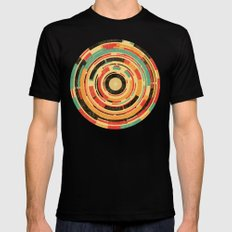 Space Odyssey Black Mens Fitted Tee LARGE