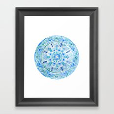 Blue Mandala 1 Framed Art Print