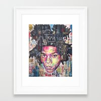 basquiat Framed Art Prints featuring Basquiat by Makelismos
