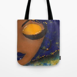 Blue and Gold Sassy Girl  Tote Bag