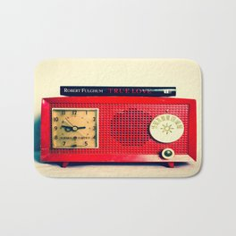 Red Radio Bath Mat