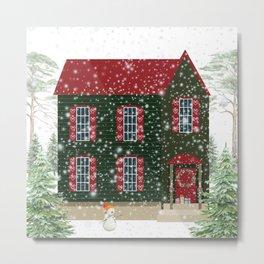 Home For Christmas Metal Print
