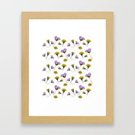Pressed flowers Framed Art Print