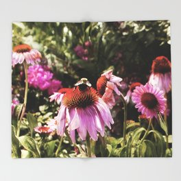 Summer in the Ether: Wild Flowers of Bright Pastures Throw Blanket