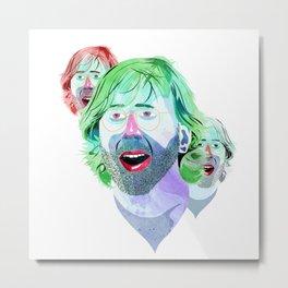 Trey Face Metal Print